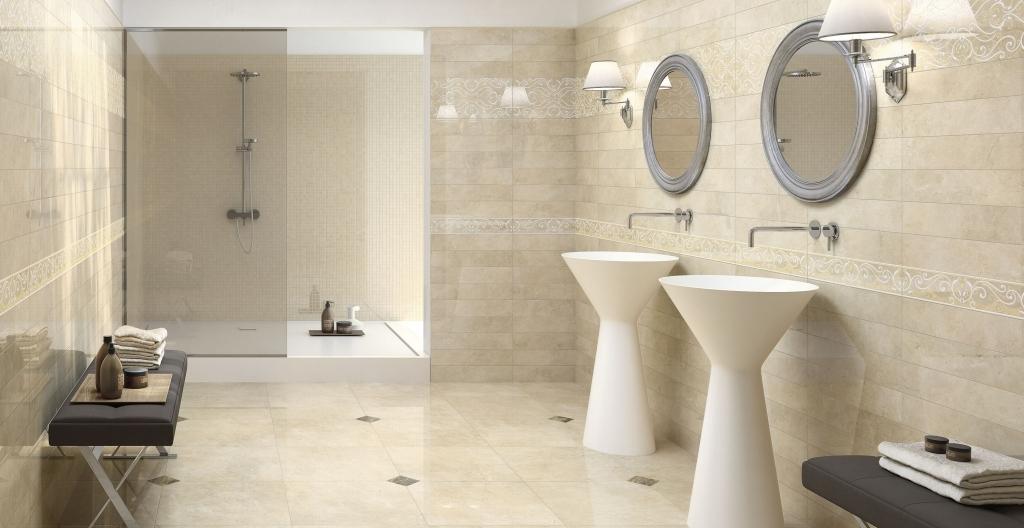 f280f57eff Béžová koupelna s jemným vzorem od výrobce Elios Marmi