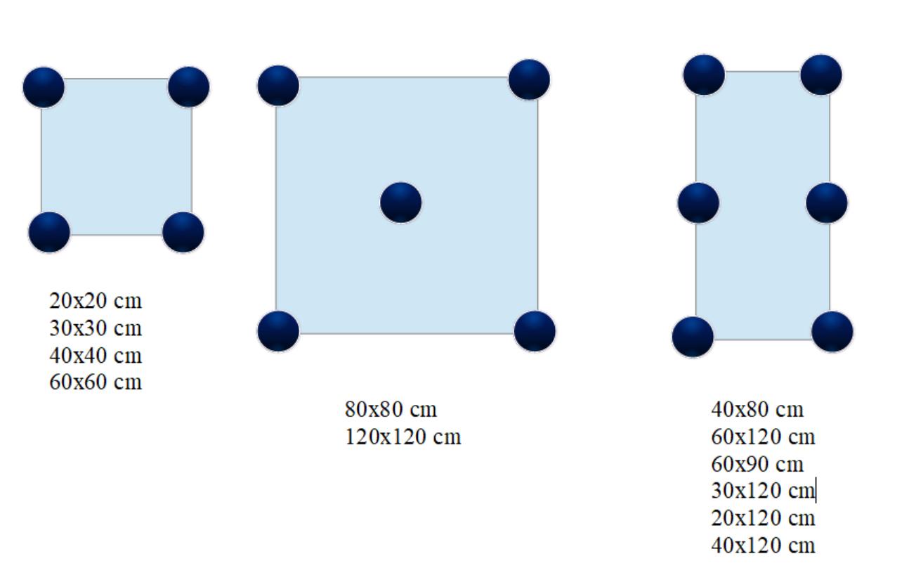 Kolik terčů je potřeba pod dlažbu podle rozměrů